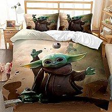 Proxiceen Yoda - Juego de ropa de cama para bebé,