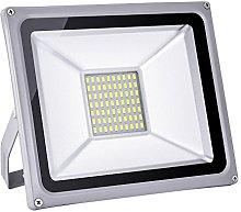 Proyector LED de 50W 5000LM, blanco frío foco LED