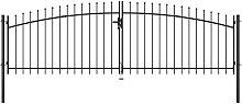 Puerta doble para valla con puntas de lanza