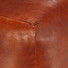 Puf 40x40x40 cm cuero genuino de cabra - Hommoo
