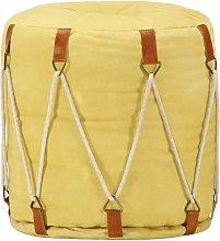 Puf amarillo 40x40 cm lona de algodón - Hommoo