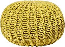 Puf amarillo 50 x 35 cm CONRAD II