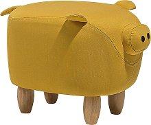 Puf amarillo PIGGY