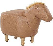 Puf animal tapizado beige HORSE