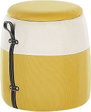 Puf con almacenaje amarillo RUBY