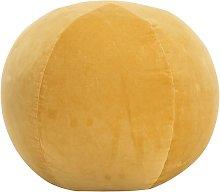 Puf de terciopelo de algodón amarillo 50x35 cm -