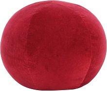 Puf de terciopelo de algodón rojo 50x35 cm -