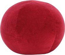 Puf de terciopelo de algodón rojo 50x35 cm - Rojo