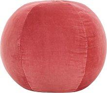 Puf de terciopelo de algodón rosa 50x35 cm -