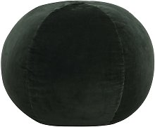 Puf de terciopelo de algodón verde 50x35 cm -
