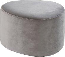 Puf de terciopelo gris