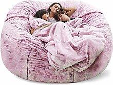 Puf gigante para sofá cama, sin relleno, suave,