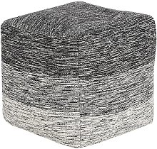 Puf gris oscuro 40x40 cm HIRRI