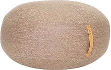 Puf Herringbone ø70cm, marrón