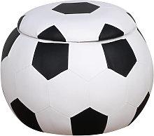 Puf infantil de balón de fútbol HomCom