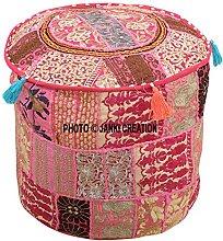Puf otomano decorativo indio otomano, cómodo