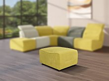 Puf para sofá modular de tela SYMPOSION - Amarillo