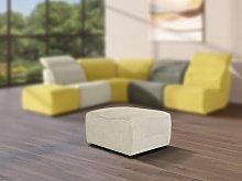 Puf para sofá modular de tela SYMPOSION - Gris
