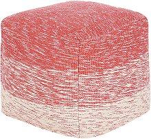 Puf rojo 40x40 cm HIRRI
