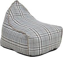 Puf sillón cuadros gris LINEN DROP