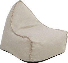 Puf sillón de lino beige LINEN DROP