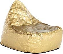Puf sillón dorado LINEN DROP