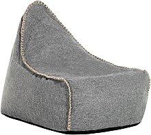Puf sillón gris LINEN DROP