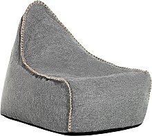 Puf sillón gris oscuro LINEN DROP