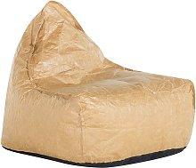 Puf sillón marrón LINEN DROP