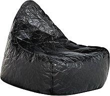 Puf sillón negro LINEN DROP