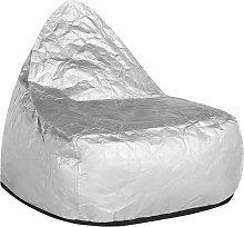 Puf sillón plateado LINEN DROP
