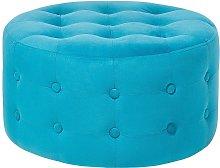 Puf tapizado azul TAMPA