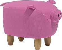 Puf tapizado rosa PIGGY