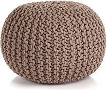 Puf tejido amano 50x35cm algodónmarrón Vida XL