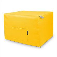 Puff Cama Confort Amarillo Único Amarillo