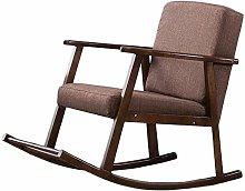 PULLEY Silla mecedora tapizada, moderna silla de
