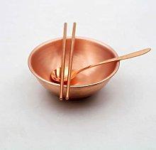 Pura engrosada de doble capa de cobre vajilla de