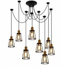 PXY Lámpara de Araña de Vintage Industrial de