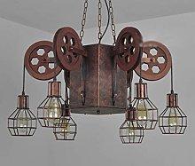 PXY Útil Lámpara de Polea Industrial 6 Cabezal