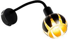 QAZQA Moderno Aplique diseño negro/oro brazo