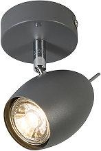 QAZQA Moderno Foco diseño gris oscuro - EGG 1