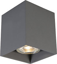 QAZQA Moderno Foco moderno gris oscuro - QUBO 1