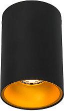 QAZQA + Moderno Foco negro/naranja brillante -