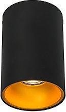 QAZQA Moderno Foco negro/naranja brillante - DEEP