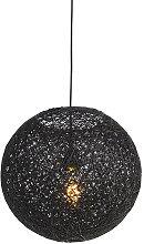 QAZQA Moderno Lámpara colgante negra 35cm - CORDA