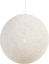 QAZQA rústico Lámpara colgante rústica blanca