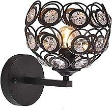 QHCS Aplique de Pared de Cristal LED, Iluminación