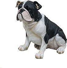 QIANG Escultura De Resina De Bulldog Francés