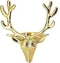 qiaohuan shop 6 unids oro ciervo cabeza servilleta