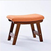 QIAOLI Taburete de madera maciza con taburete